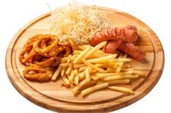 Smażący fast food - Akcyjny wizerunek Zdjęcie Stock