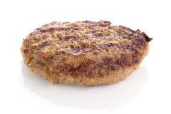 Smażący hamburger wołowiny pasztecik Fotografia Stock