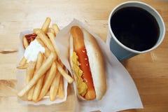 Smażący & hot dog Obraz Royalty Free