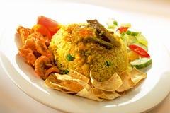 smażący indyjscy ryż obraz stock