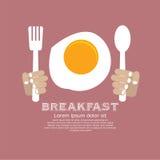 Smażący Jajeczny śniadanie. Obraz Stock