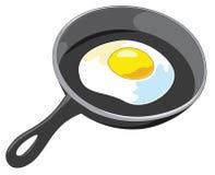 Smażący Jajeczny wektor Obrazy Royalty Free