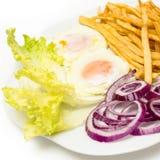 Smażący jajka z różnorodnymi warzywami Zdjęcia Stock