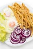 Smażący jajka z różnorodnymi warzywami Zdjęcie Stock