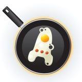 Smażąca jajko rakieta Zdjęcie Stock