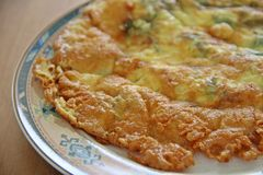 Smażący jarzynowy omlet Zdjęcie Stock