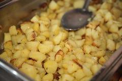 smażący kartoflani plasterki Obraz Stock