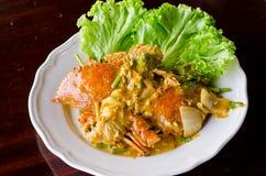 Smażący krab z currym zdjęcie royalty free