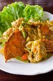 Smażący krab z currym obrazy royalty free