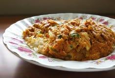 Smażący kraba curry Zdjęcia Stock