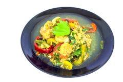 Smażący Krewetkowy curry'ego proszek zdjęcie royalty free