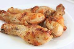 smażący kurczaków drumsticks Zdjęcie Stock