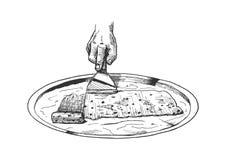 Smażący lody ilustracja wektor