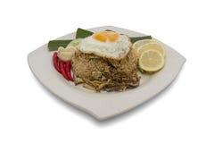 smażący malezyjscy ryż zdjęcie stock