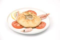 smażący mięsnego kulebiaka mięsny pikantny Zdjęcie Stock