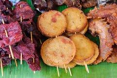 Smażący mięsny jedzenie Obraz Royalty Free