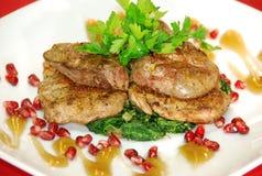 smażący mięso Fotografia Stock