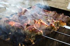 Smażący mięso Fotografia Royalty Free