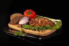 smażący mięso Zdjęcia Royalty Free