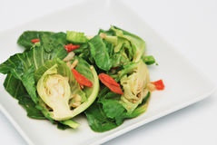 Smażący mieszani warzywa Zdjęcia Stock