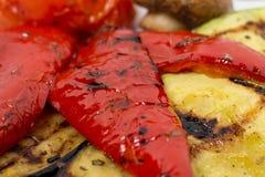 smażący oberżyny wyśmienicie jedzenie piec na grillu pieczarek odżywczych smakowitych pomidorów pożytecznie warzywa jarskich Zdjęcie Stock