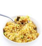 smażący orientalni ryż zdjęcie stock