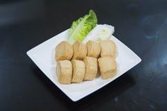 Smażący owoce morza Tofu dla Steamboat fotografia royalty free