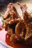 smażący porcelanowy wyśmienicie rybi jedzenie Zdjęcie Stock