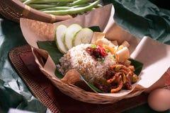 Smażący ryż obraz stock