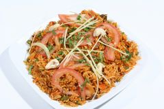 smażący ryż zdjęcie stock