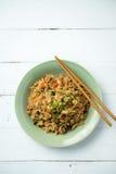 Smażący ryż na białym tle Fotografia Royalty Free