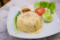 Smażący ryż na talerzu Obraz Stock