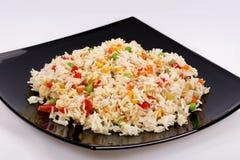 Smażący ryż z warzywami Fotografia Stock