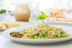 smażący ryżowi warzywa obraz stock