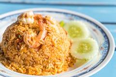 smażący ryżowy korzenny owoce morza Zdjęcie Royalty Free