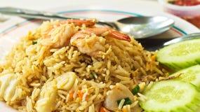 smażący ryżowy owoce morza Fotografia Royalty Free