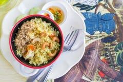 smażący ryżowy owoce morza Zdjęcia Royalty Free