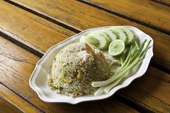 smażący ryżowy owoce morza zdjęcie stock