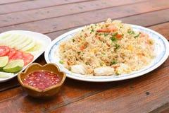 smażący ryżowy owoce morza Zdjęcie Royalty Free