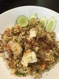 smażący ryżowy owoce morza obraz stock