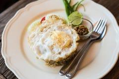 Smażący ryżowy tajlandzki styl Zdjęcia Royalty Free