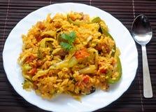 smażący ryżowy veg Zdjęcie Stock