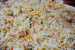 Smażący ryżowy zakończenie Obrazy Stock
