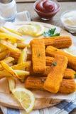 smażący rybi francuz smaży kije Fotografia Royalty Free
