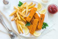 smażący rybi francuz smaży kije Zdjęcie Stock