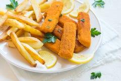 smażący rybi francuz smaży kije Zdjęcia Stock