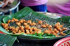 Smażący rybi pasztecik lub Zyskujący przychylność rybi tort Fotografia Royalty Free