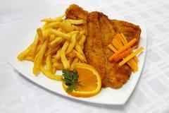 Smażący rybi polędwicowy Fotografia Stock