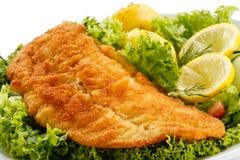 Smażący rybi polędwicowy zdjęcia royalty free