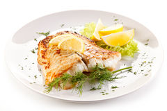 Smażący rybi polędwicowy fotografia royalty free